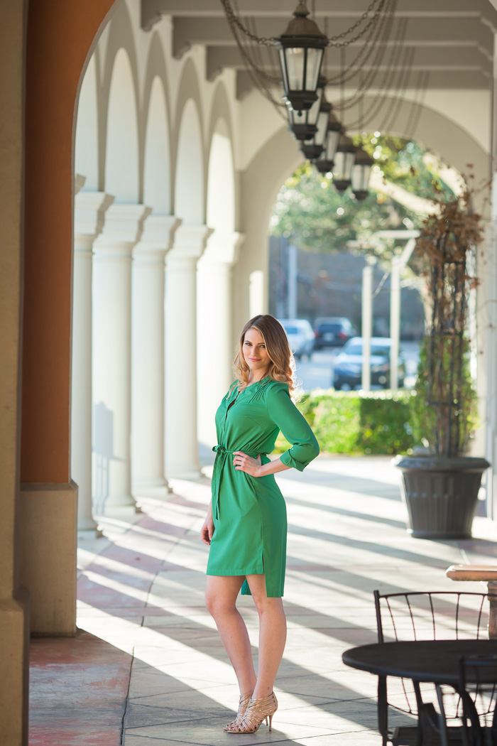 headshots, kate smith, houston, photographer, photography, green dress