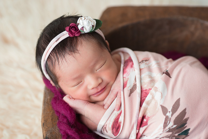 posed, newborn, photography, session, photo shoot, houston, texas, kelli nicole photography, baby girl, color, newborn photography, houston newborn photographer, studio, newborn girl, floral, wrapped newborn, swaddled, newborn posing,