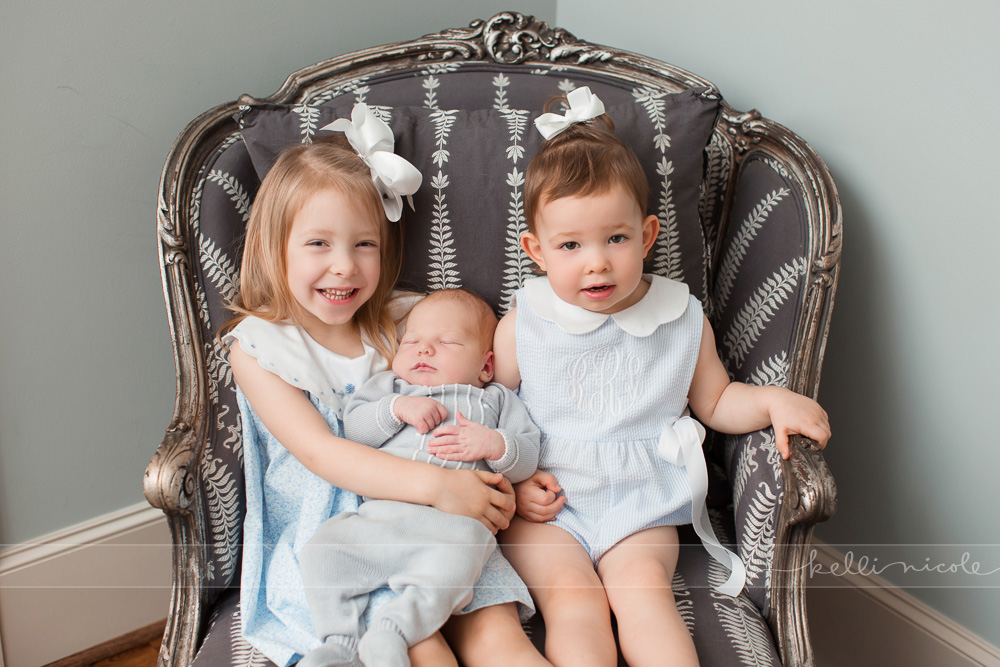 posed, newborn, photography, session, photo shoot, houston, texas, kelli nicole photography, baby boy, color, newborn photography, houston newborn photographer, newborn boy, neutrals, newborn posing, siblings, big sisters, baby brother
