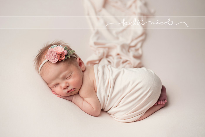 posed, newborn, photography, session, photo shoot, houston, texas, kelli nicole photography, baby girl, color, newborn photography, houston newborn photographer, studio, newborn girl, neutrals, newborn posing,