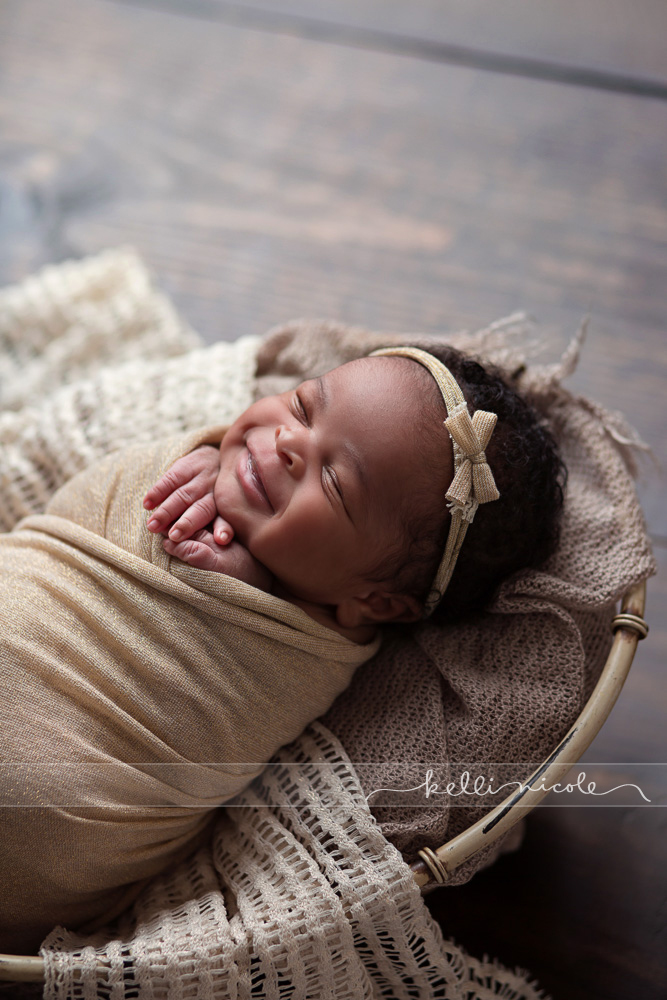 posed, newborn, photography, session, photo shoot, houston, texas, kelli nicole photography, baby girl, color, newborn photography, houston newborn photographer, studio, newborn girl, newborn posing, gold, neutrals