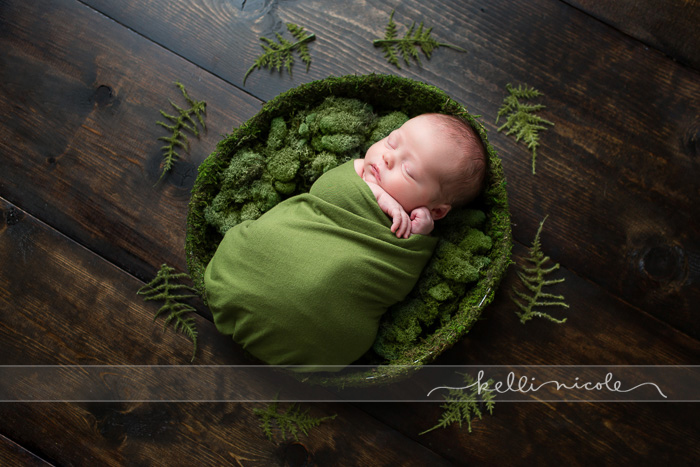 posed, newborn, photography, session, photo shoot, houston, texas, kelli nicole photography, baby, color, newborn photography, houston newborn photographer, studio, newborn boy, newborn posing, newborn photography tutorial, studio newborn lighting, paul c buff einstein lighting, newborn boy, recemnascido, ensaio newborn, green, moss