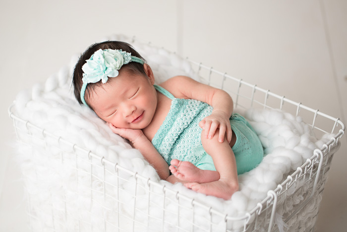 posed, newborn, photography, session, photo shoot, houston, texas, kelli nicole photography, baby girl, color, newborn photography, houston newborn photographer, studio, newborn girl, mint, newborn posing,