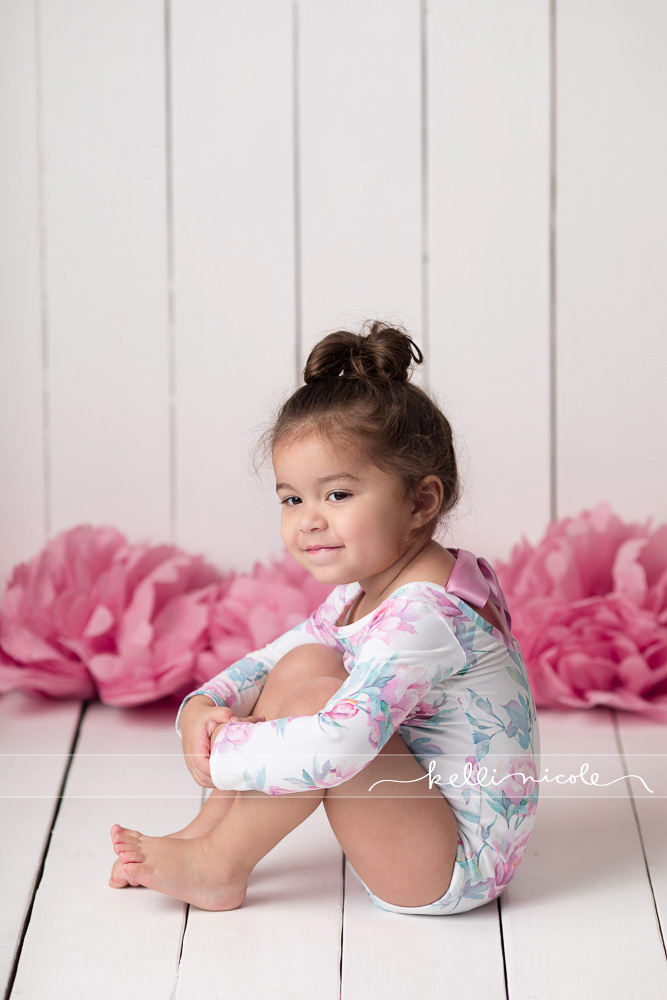 posed, children, photography, session, photo shoot, houston, texas, kelli nicole photography, toddler girl, color, baby photography, houston baby photographer, studio, baby girl, child posing, baby photography tutorial, studio baby lighting, paul c buff einstein lighting, houston child photography, children, sugar plum lane baby, leotard, 3 year old